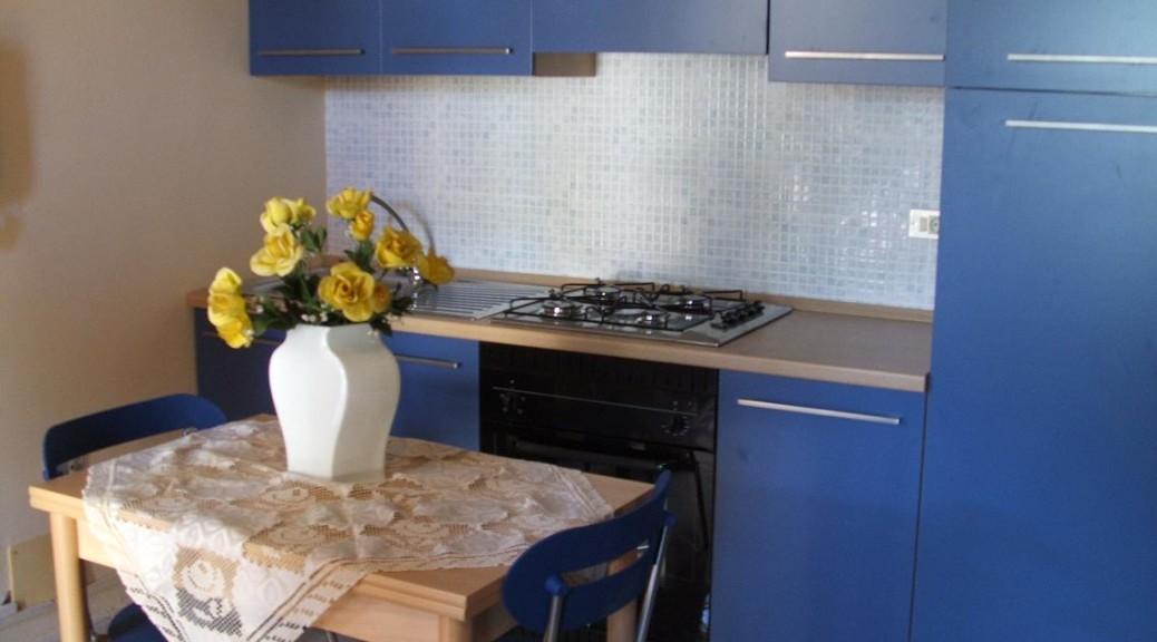 Appartamento Verde: La cucina-soggiorno